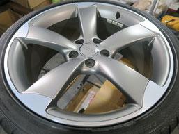 アウディS4(TT・RS) 純正アルミホイールのガリキズ・すり傷のリペア(修理・修復)後のホイール写真