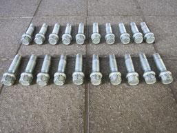 ベンツ カールソン仕様アルミホイールのボルトナットの劣化塗装剝離後の写真