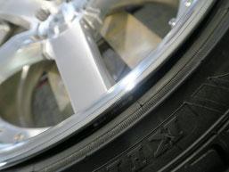 レクサスLSのアルミホイールのガリキズ・すり傷のリペア(修理・修復)後のホイールBの写真5