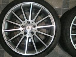 ベンツA180の純正シルバーダイヤモンド(ダイヤモンドカット仕上げ)ホイールのガリ傷・擦りキズ・欠けの、リペア(修理・修復):再ダイヤモンドカット加工後の写真3