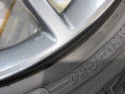 レクサスCT200h・Fスポーツの純正アルミホイールの ガリキズ・擦り傷のリペア(修理・修復・再生)後のホイールCのアップ写真その1