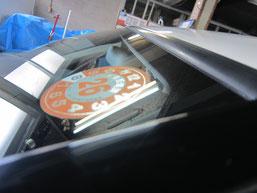 ベンツC200コンプレッサーのフロントガラスの鱗状痕(水垢、ウロコ染み、ウォータースポット)の除去後その4