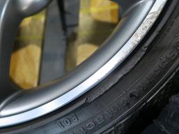 アウディS4(TT・RS) 純正アルミホイールのガリキズ・すり傷のリペア(修理・修復)前の傷アップ写真