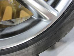 レクサスIS300h・Fスポーツの純正アルミホイール のガリキズ・擦り傷・欠けのリペア(修理・修復・再生)後の傷アップ写真2