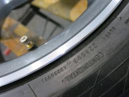 メルセデス・ベンツC200AMGの純正アルミホイールのガリキズ・すり傷 のリペア(修理・修復)後のホイールBの写真3