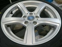 BMW Z4 のアルミホイールのガリキズ・擦り傷のリペア(修理・修復)後のホイール写真1