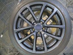 スバル WRX.S4の純正アルミホイールのガリ傷・擦りキズのリペア(修理・修復)後のホイール写真2