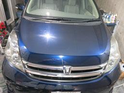 トヨタ・アイシスのヘッドライトの曇り・黄ばみ・劣化の除去(修理・修復)、両目修理後