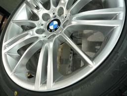 BMW M3クーペ 純正アルミホイール の ガリキズ・擦り傷のリペア(修理・修復・再生)後のアップ写真