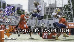 Seagulls Beat Deers (Pearl Bowl)