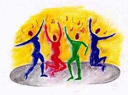 Freies Tanzen Leutkirch Allgäu Süddeutschland Tanz Experimentellertanz Ausdruckstanz Tanzkreis gemeinsam sein Musik genießen