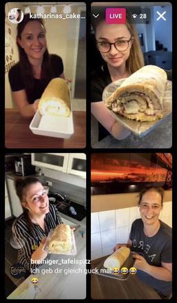 Zitronen Biskuitrolle mit Lara, Brigitte und Melly, 12.06.2021