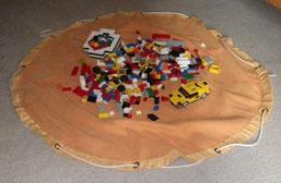 tapis-sac de lego OUVERT