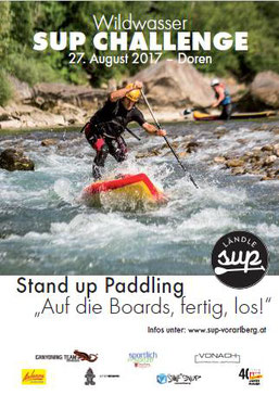 wildwasser sup challenge in doren vorarlberg stand up paddeln standuppaddeling