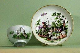 Tasse mit Tierfabeln, Meissen 1750/1760