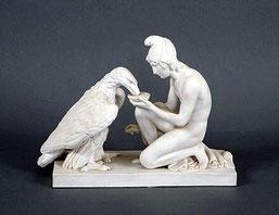 Ganymed gibt dem Adler Wasser