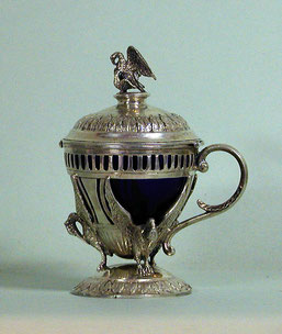 Empire-Gewürzgefäß, Paris 19. Jahrhundert, Silber