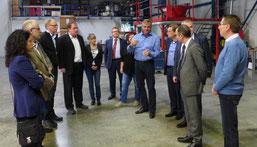 Peter Putsch (5.v.r.) im Gespräch mit den Mitgliedern des Merseburger Beirates für Wirtschaftsförderung. © Exipnos