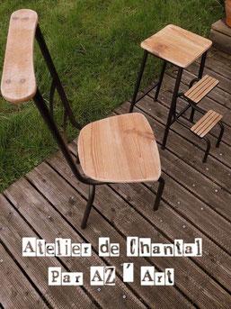 Chaise 50 € ou 45 Bzk (tabouret réservé)