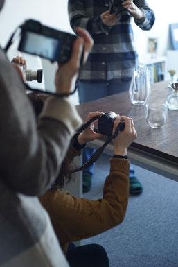 カメラ初心者のための「入門クラス」撮影会のようす