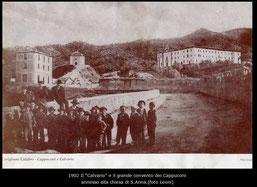 1902 Il Calvario e il Convento dei Cappuccini(foto Leoni)