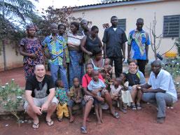 Christian , Jonas und Gastfamilie