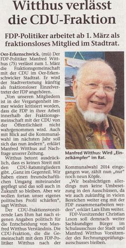 Artikel der Stimberg Zeitung vom 19.02.2019