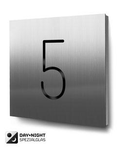Design-Hausnummern aus Edelstahl und Aluminium, einstellig bis vierstellig erhältlich