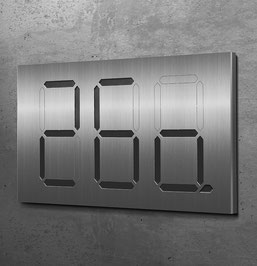 dreistellige Segment-Hausnummern