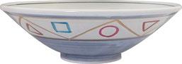 染錦ペルシャ紋_9.0反浅鉢
