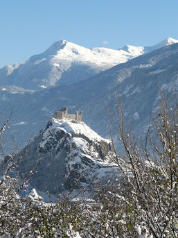 Tourbillon under the snow, view from Montorge