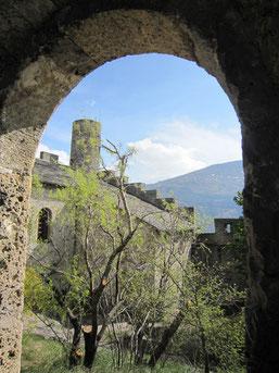Tourbillon im Schnee, Blick vom Montorge