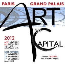 Claude Rossignol - Affiche Salon des Artistes Français 2012