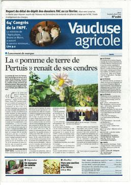 Vaucluse agricole 5 février 2010