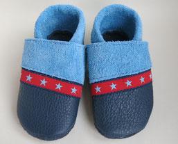 Lederschuhe Jungenschuhe handmade Sterne