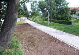Bau von Fußwegen für den Alltagsverkehr - Gehweg in Hartmannsdorf