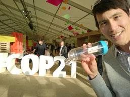 Frédéric à la COP21 de Paris, en décembre 2015.