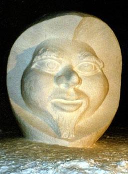Bild: Schneeskulptur