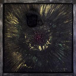 Veronika Matzner, Aktionskunstwerk, Collage (Acryl, Glas,... auf Leinwand)