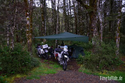 Neuseeland - Motorrad - Reise - Camping auf dem Lewis Pass