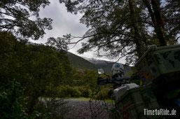 Neuseeland - Motorrad - Reise - Camping auf dem Lewis Pass - Schneefall nahzu bis zu unserem Zelt