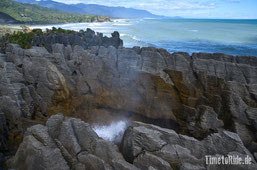 Neuseeland - Motorrad - Reise - Westküste - Blowhole
