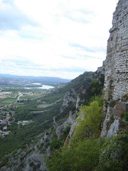 vue sur la plaine valentinoise