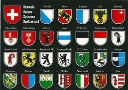 les armes des cantons suisses