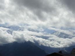 vue sur le Mont Blanc!