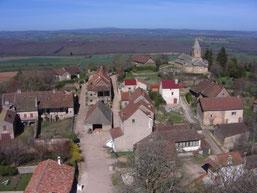 vue sur le village depuis le haut du donjon