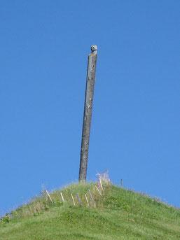 poteau planté en face de la Frauenkirch