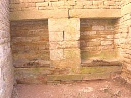les latrines dans la tour
