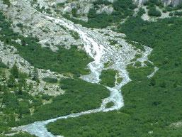 le Rhône à son arrivée dans la vallée