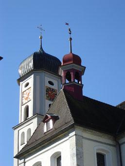 l'église baroque à clocher isolé